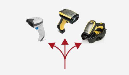 <p><p>ハンディ式コードリーダは、有線・無線式の各種汎用、DPM用モデルを用意しておりますので、用途に応じて選択が可能です。</p> </p>