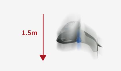 <p><p>耐落下性能1.5mの<strong>高耐久性</strong>。<br /> (据置型のMagellan1500iは、1.2m、Gryphonシリーズは、1.8m)</p> </p>