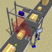 <p>1台のDM3610でワイドな幅の計測が可能、高速コンベアラインでも確実に計測が実現。</p>