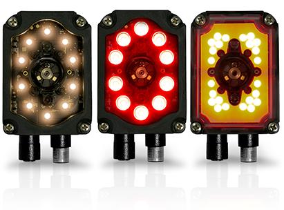 <p>DPMコード読取に最適な拡散照明内蔵タイプと長距離でも読取が可能な高輝度LED照明内蔵タイプを用意。</p>